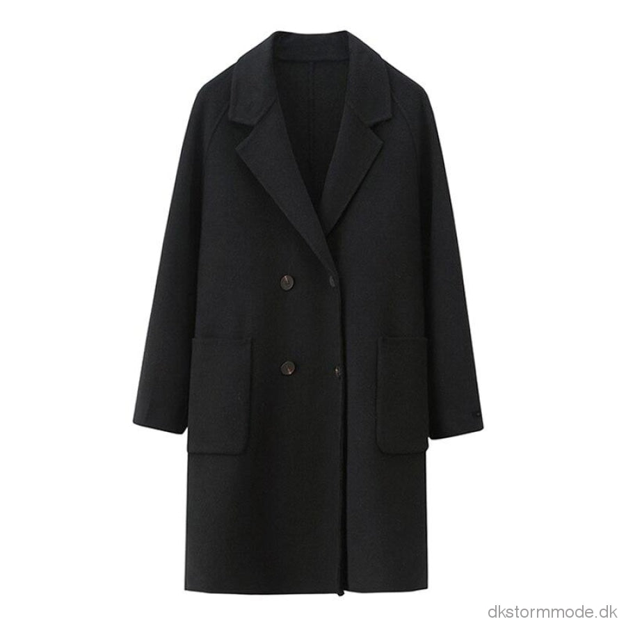 Elegant Long Wool Winter Coat