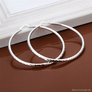 Fashion New Classic Design Solid Silver Big Hoop Earrings