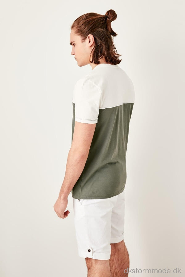Green Men Panelled T-Shirts |Dsal-Tmnss19Qa0024Pusd12K91