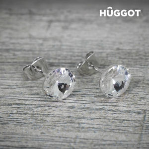 Hûggot Winter Rhodium-Plated Earrings Created With Swarovski®Crystals