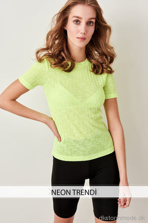 Knitted T-Shirts Neon Yellow Twoss19Os0032