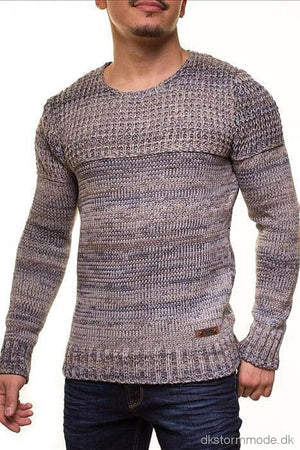 Male Hot Sweater Crsm - Blue-Grey 9502-3 Sweaters