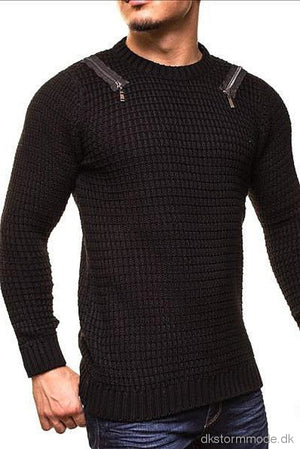 Male Sweater Crsm - Black 9507-1 Sweaters
