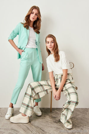 Mint High Waist Jacket And Pants Suit Twoss19Ap0106