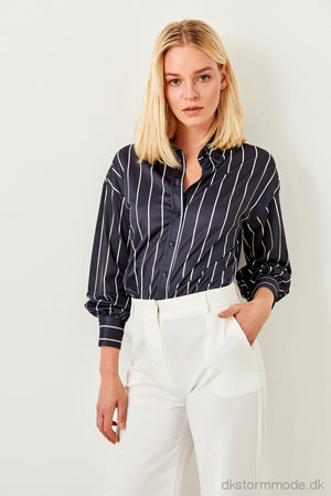 Navy Striped Knit Shirt Tclss19Vg0008