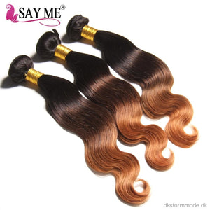 Ombre Body Wave Human Hair Bundles With Lace Closure Blonde Brazilian Weave 3 Remy Peruvian