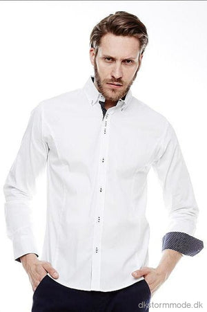 Slim-Fit Shirt Crsm - White 16010-1 Shirt