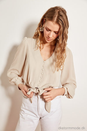 Stone Button Blouse Detailed Bonds Should Tofss19Wx0010