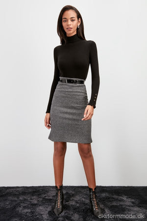 Textured Waist Knitted Skirt |Dstwoaw20Et0572