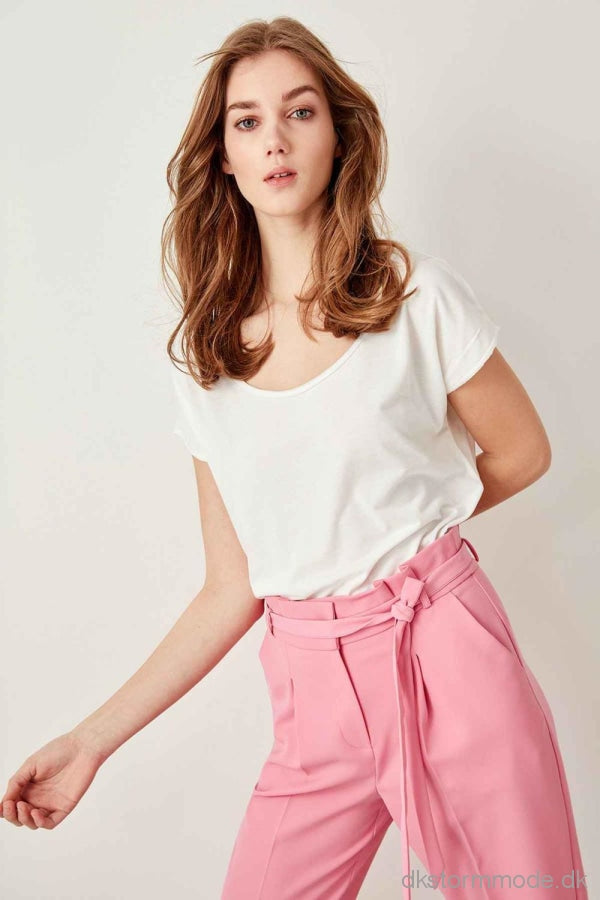 Tiles Neck Knitted Crop T-Shirts Twoss19Rg0003