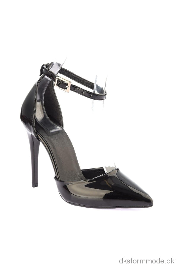 Trendyol Black Patent Leather Women S High-Heeled Shoes Takss19Kw0017
