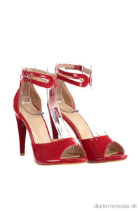 Trendyol Red Patent Leather Women S High-Heeled Shoes Takss19Az0047