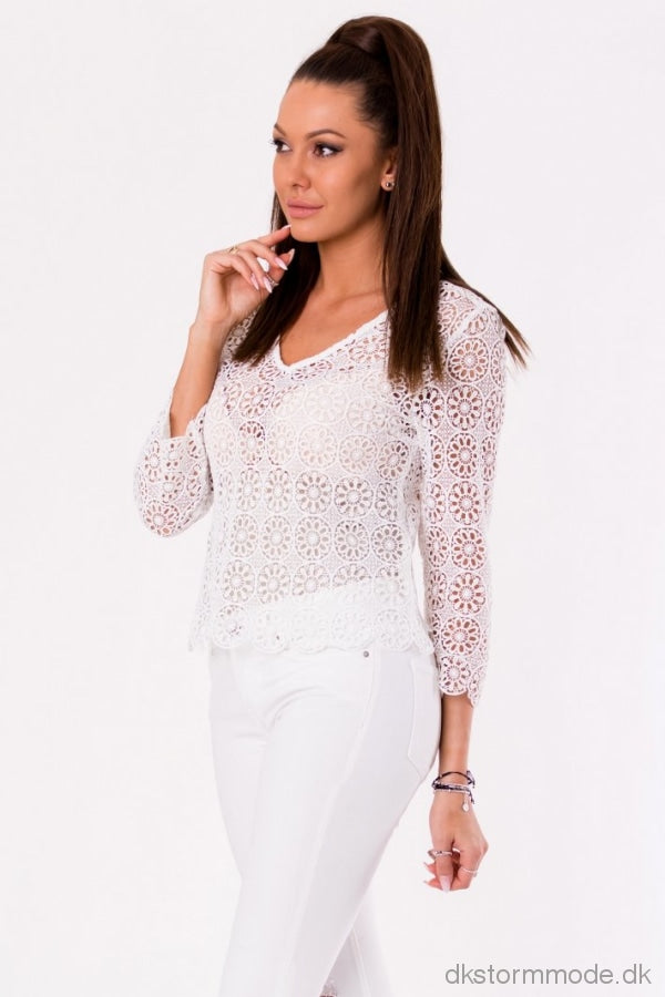 White 48024-1 Blouse