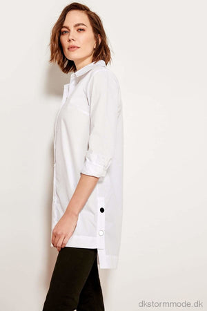 White Button Detailed Shirt Twoss19Fg0048