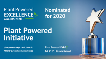 We've been nominated for a Plant Powered Excellence Award!