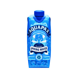 96 Aquapax Pure Spring Water (8x cases of 12x 500ml cartons) Inc Free Shipping