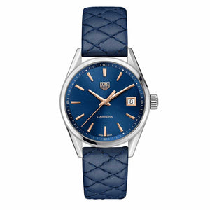 Tag Heuer - Tag Heuer Carrera Blue Dial 39MM W/ Quilted Strap