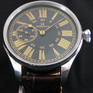 Omega - Antique Circa 1910 Large Art Deco Wrist Watch
