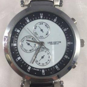 Louis Vuitton - Chronometer Mens Watch 083 Swiss Made Metal Band Chronograph