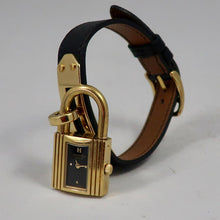 The Famous Hermès Kelly Watch - Black & Gold