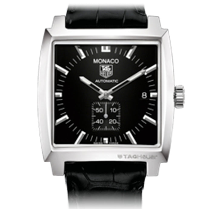 Tag Heuer - Monaco Automatic Watch - Steel Face - Black Leather Band