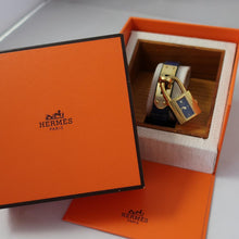 The Famous Hermes Kelly Watch - Blue & Gold Combination