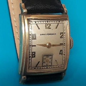 Vintage Girard Perregaux Manual Art Deco Tank Watch with Sub-Second Dial