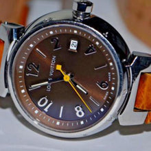 Louis Vuitton - Tambour with Date & Leather Band
