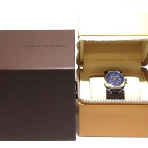 Louis Vuitton - Ladies Diamond Tambour - Leather Band