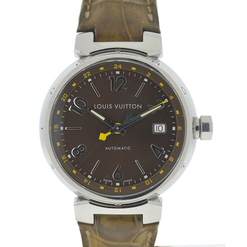 Louis Vuitton - Tambour Stainless Steel Leather Strap Automatic Watch