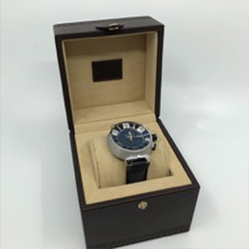 Louis Vuitton - Elegant Tambour Blue Dial with Black Leather Band