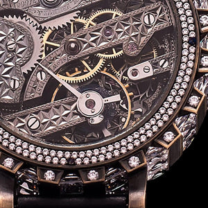 Patek Philippe - 1885 Movement Signed and Numbered in Modern Skeleton Case with More Than 200 Crystals