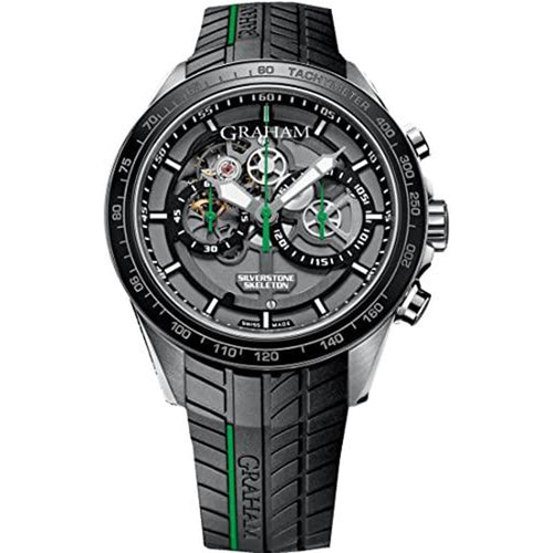 Graham - Graham Silverstone RS Skeleton 46mm Chronograph Automatic Men's Watch