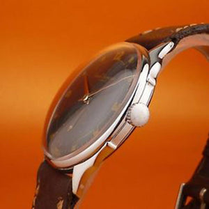 Girard-Perregaux - Rare Circa 1950 Black Dial with Silver Hands and Gold Numbering