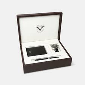 Visconti 3pc. Gift Set in Brown Leather Presentation Box