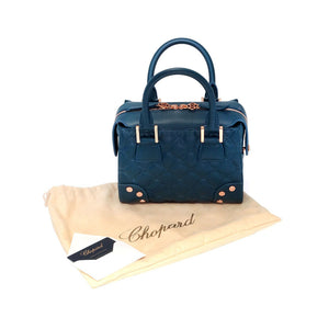 Chopard Baby Quilted Blue Leather Handbag