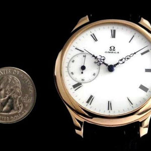 Omega - Stunning 1925 Signed Movement with Custom Rose Gold Case