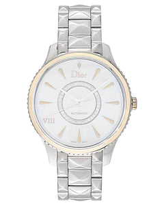 Dior VIII Montaigne Steel & 18K Rose Gold Ladies Diamond Watch 36mm
