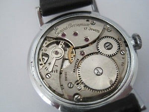 Girard Perregaux Vintage 1960's Stainless Steel Case Manual Wind Watch