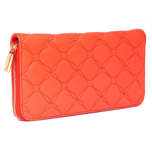 Chopard Medium Orange Quilted Leather Wallet