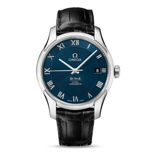Omega - De Ville Automatic Steel Mens Strap Watch Blue Dial