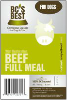 BC's Best Full Meal Beef The Raw Connoisseurs