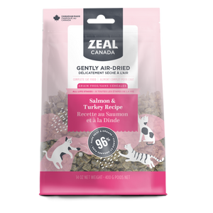 Zeal Canada Cat GF Air-Dried Salmon & Turkey 400 g - The Raw Connoisseurs