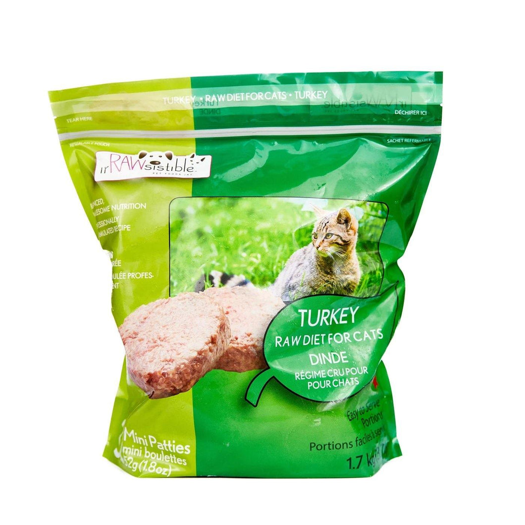 Bone-In Turkey Mini Patties for Cats - Modern Kibble
