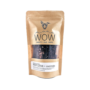 WOW Treats and More Organic Beef Liver & Carrot treats