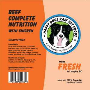 Happy Dogs Beef Complete Nutrition with Chicken