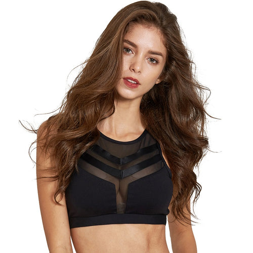 Chevron Mesh Sports Bra