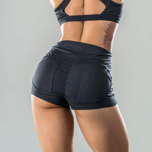 High Waist Compression Running Shorts