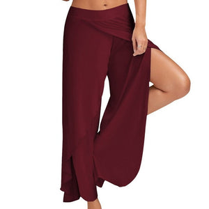 Wide Leg Yoga Pants with Split