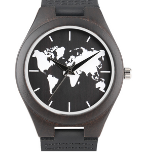 Premium Wooden World Map Watch -with Leather Band – WhereDealsRmade